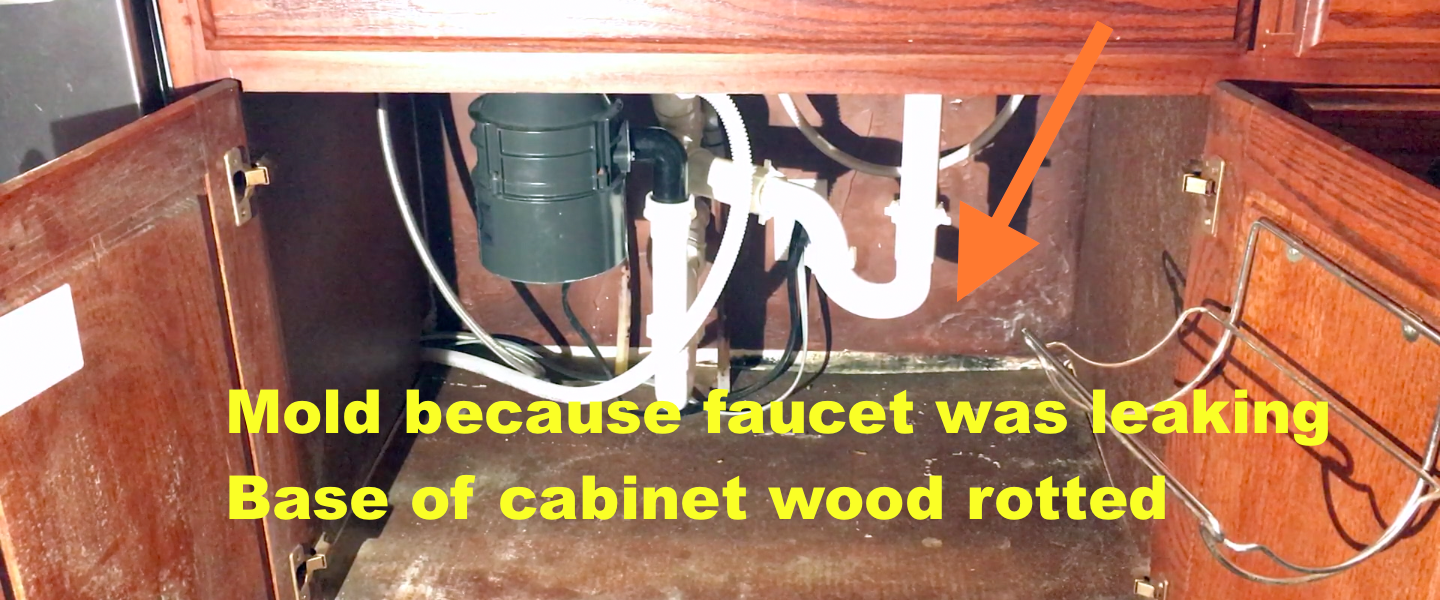 This is how I replaced the sink base cabinet. I am not a carpenter but I can be handy at times. This is not a How-To or DIY (Do It Yourself) video ... & How to replace rotten sink base cabinet bottom. The Easy Way. Mold ...